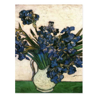 Irises In Vase (Van Gogh) Postcard