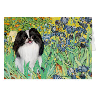Irises - Japanese Chin 3 Card