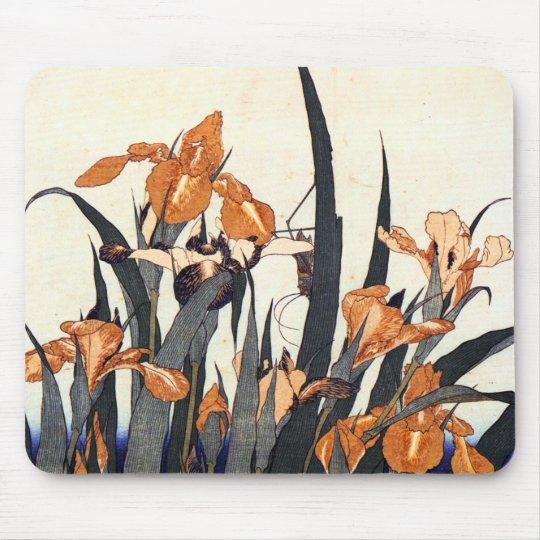 Irises, Katsushika Hokusai Mouse Pad
