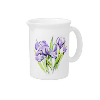 Irises Pitcher