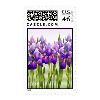 Irises postage stamp