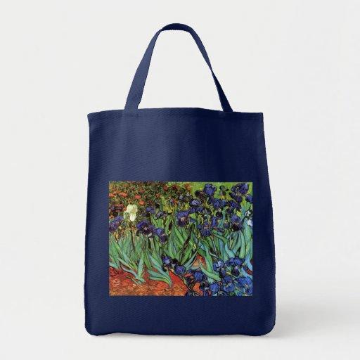Irises, Saint-Remy, Van Gogh Bags