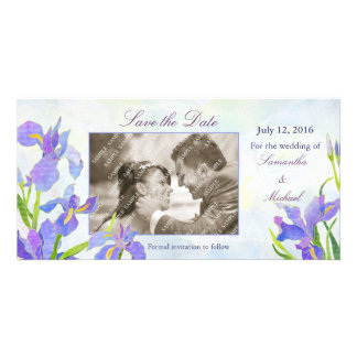 Irises Save the Date Photo Cards