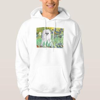 Irises - Shih Tzu (white) Hooded Sweatshirt