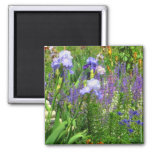 Irises, Tulips, and Wildflowers of Indiana 2 Inch Square Magnet