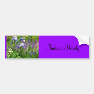Irises, Tulips, and Wildflowers of Indiana Bumper Sticker