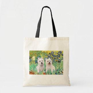 Irises - Two Westies Tote Bag