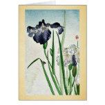 Irises Ukiyoe Greeting Card