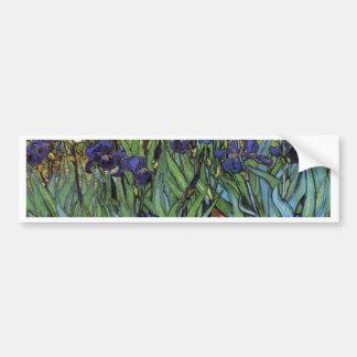 Irises Van Gogh Bumper Sticker