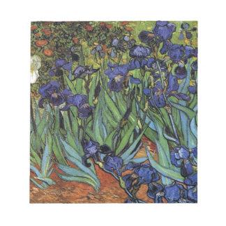 Irises Van Gogh Notepad