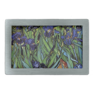 Irises Van Gogh Rectangular Belt Buckle