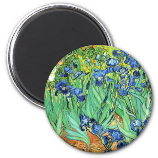 Irises - Vincent Van Gogh (1889) 2 Inch Round Magnet