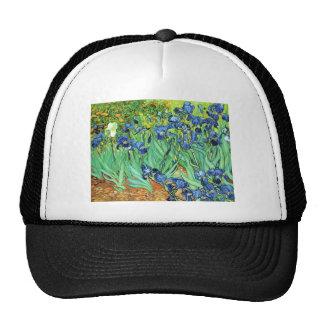 Irises - Vincent Van Gogh 1889 Hats