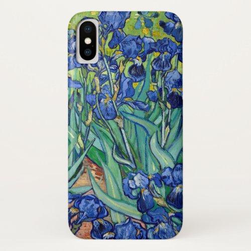 Irises Vincent Van Gogh Blue Flowers Nature Art Phone Case