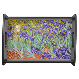 Irises Vincent Van Gogh Fine Art Serving Tray