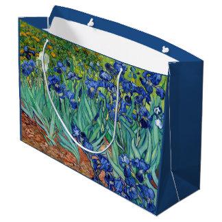 Irises Vincent van Gogh Flowers Fine Art Painting Large Gift Bag