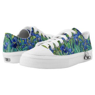 Irises Vincent van Gogh Flowers Fine Art Painting Low-Top Sneakers