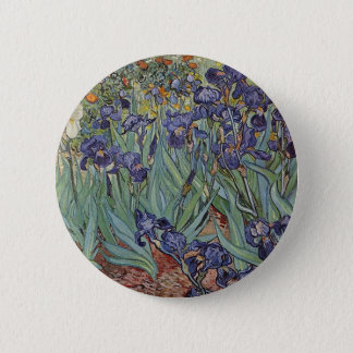 Irises - Vincent Willem van Gogh Pinback Button