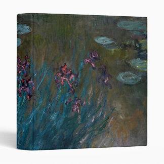 Irises & Water Lilies 3 Ring Binder