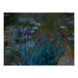Irises Water Lilies Print