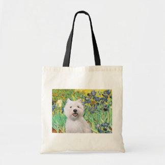 Irises - Westie 2 Tote Bag