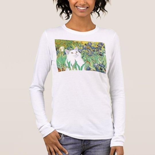 Irises - White cat Long Sleeve T-Shirt