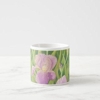Irises, Wisley Gardens in Pastel Espresso Mug 6 Oz Ceramic Espresso Cup