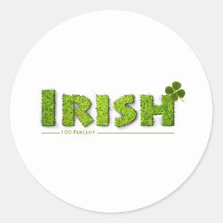 Irish 100 Percent! Classic Round Sticker