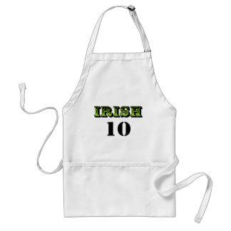 Irish 10! Cool Saint Patricks Design! Adult Apron