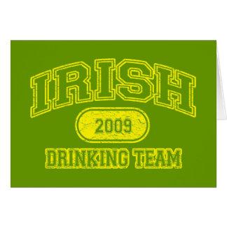 Irish 2009 Drinking Team Greeting Card