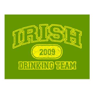 Irish 2009 Drinking Team Postcards