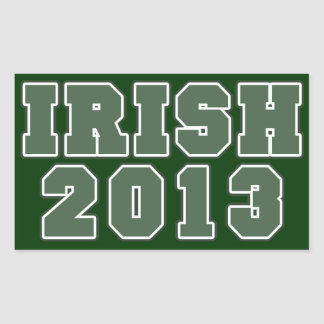 Irish 2013 st patricks day rectangular sticker