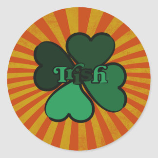 Irish 4 leaf clover stickers