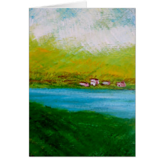 Irish Abstract Landscape Stationery Note Card