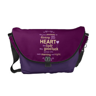 Irish Abundance Happiness and Good Luck Blessing Courier Bag
