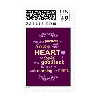Irish Abundance Happiness and Good Luck Blessing Stamp