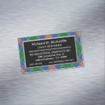 Irish Accent Clan MacAuliffe McAuliffe Tartan Business Card Magnet