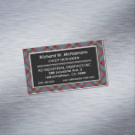 Irish Accent Clan MacNamara Tartan Business Card Magnet