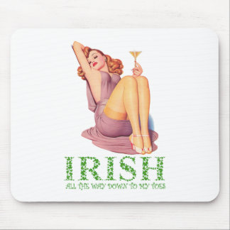 IRISH ALL THE WAY DOWN TO MY TOES MOUSE PAD