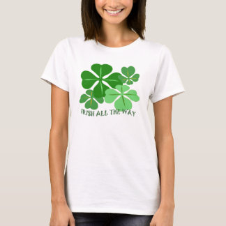 Irish All the Way Shamrock T-Shirt