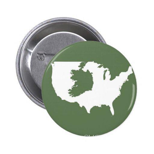 Irish America Pinback Buttons