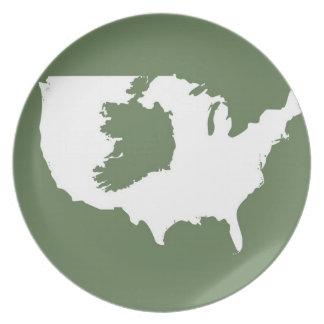 Irish America Melamine Plate