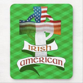 Irish American Celtic Cross Mousemat Mouse Pad