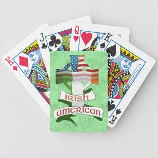Irish American Celtic Cross Playing Cards