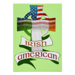 Irish American Celtic Cross Poster