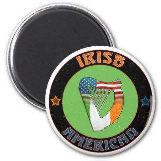 Irish American Celtic Harp Fridge Magnet