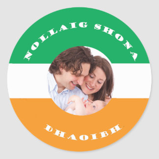 Irish-American Christmas Photo Sticker