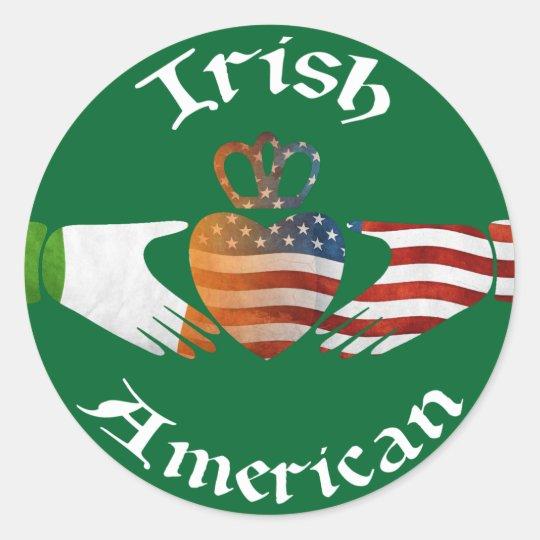 Irish American Claddagh Stickers