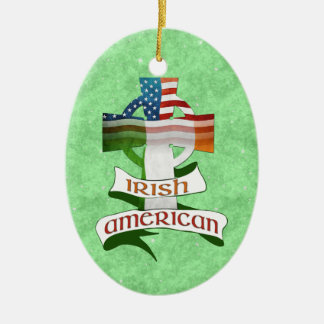 Irish American Cross Ornament
