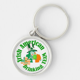 Irish american drinking team key chains